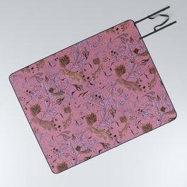 Pink fish pond Picnic Blanket