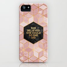 She believed she could so she did iPhone (5, 5s) Slim Case