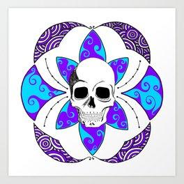 Flower of Life Purple Panic Art Print