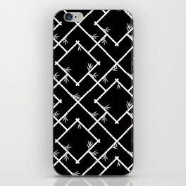 Bamboo Chinoiserie Lattice in Black + White iPhone Skin