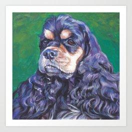 Cocker Spaniel dog art portrait from an original painting by L.A.Shepard Art Print