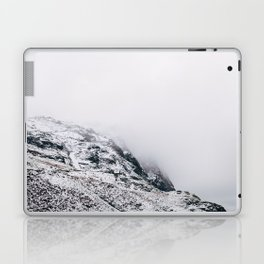 Fleetwith Pike in cloud and snow. Honister Pass, Cumbria, UK. Laptop & iPad Skin