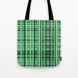 checkered Design green Tote Bag