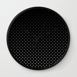 Mini Licorice Black with Faded White Polka Dots Wall Clock