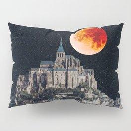 Blood Moon Over Mont-Saint-Michel Pillow Sham