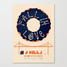 J Dilla @ Detroit State Theater - 2000 Canvas Print