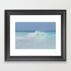 Gentle wave Framed Art Print