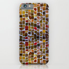 Abstract pattern in earth colors iPhone Case