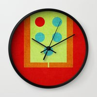 devil Wall Clocks featuring Devil by vipez