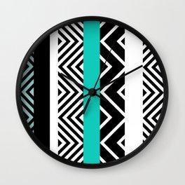 geometric in blue Wall Clock