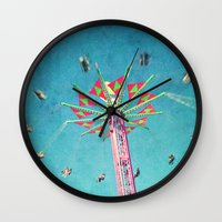 vertigo Wall Clocks featuring vertigo by Sylvia Cook Photography