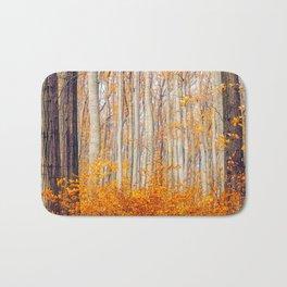 Golden Autumn Forest (Color) Bath Mat