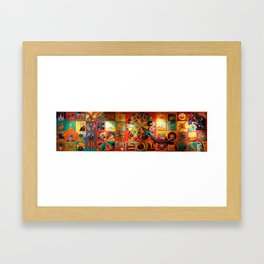 Two Boots Mural in Grand Central Terminal Framed Art Print