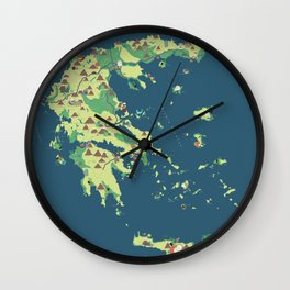 MAP OF GREECE Wall Clock