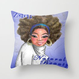 Zeta Phi Beta Natural Beauty Throw Pillow