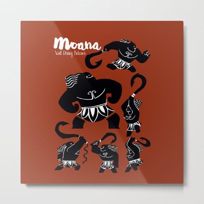 Moana, Animated Movie Poster, Oceania, Vaiana, minimal, alternative, film, playbill, 3D cartoon Metal Print