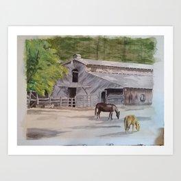 Old Horse Barn Art Print