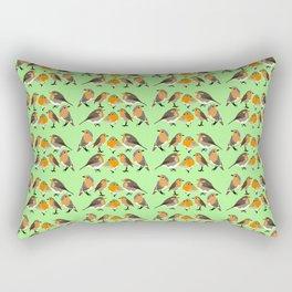 Four Robins Rectangular Pillow