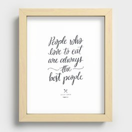 The Best People // Light Recessed Framed Print