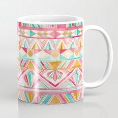 Spring Gems // Pink Gold and Turquoise Geometric Pattern Mug