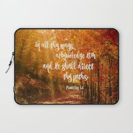 He Will Direct Your Path Bible Verse Laptop Sleeve