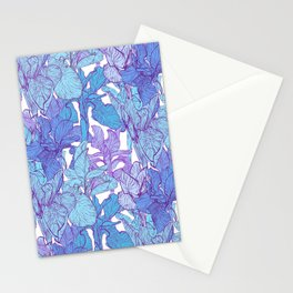 Blue graphic iris Stationery Cards