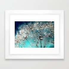 Ocean Blue  and White Dandy Drops Framed Art Print
