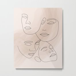 Women's Faces Metal Print