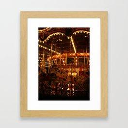King Arthur Carrousel (Nighttime, No. 1) Framed Art Print