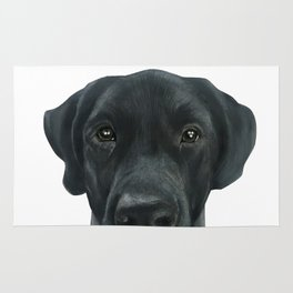 Labrador New, Acrylic painting by miart Rug