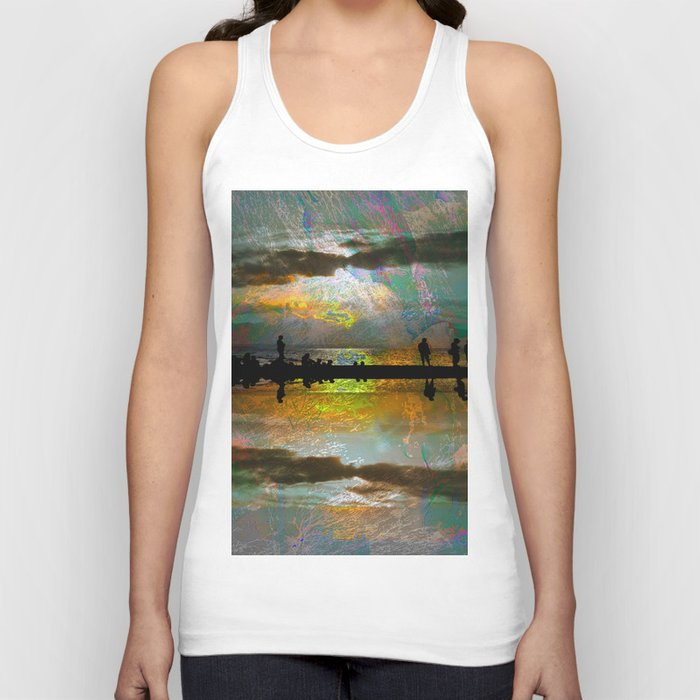 Abstract-art sunset Unisex Tank Top