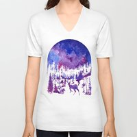 starry night V-neck T-shirts featuring Starry Night by Ricardo Moody
