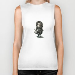 Hedgehog in the fog Biker Tank