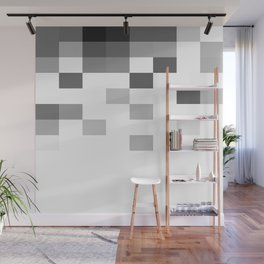 Gray Scale In Pixels Wall Mural