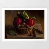 Still Life for a Vegetarian in Color Art Print