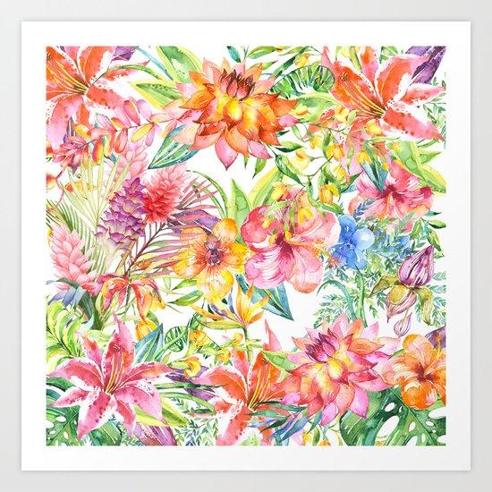 Tropical Burst Art Print