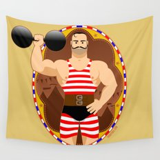 Circus strongman Wall Tapestry