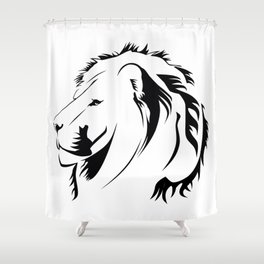 Lionhead Tribiales Shower Curtain