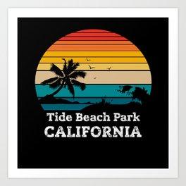 Tide Beach Park CALIFORNIA Art Print