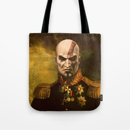 Kratos General Portrait Painting | god of war Fan Art Tote Bag