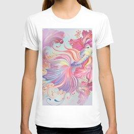 Pastel Fish Drawn T-shirt