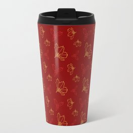 Holy Berries Red and Gold Travel Mug