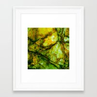 white marble Framed Art Prints featuring Marble by Patterns and Textures