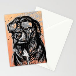 Only Cool Dogs Stare at the Sun Stationery Cards