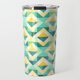 Quilted Diamond // Geometric Watercolor Pattern Travel Mug