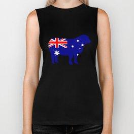 Australian Flag - Sheep Biker Tank