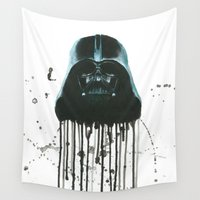 darth vader Wall Tapestries featuring Darth Vader by McCoy