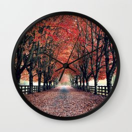 Welcome Home to Fall Wall Clock