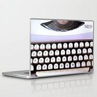 typewriter Laptop & iPad Skins featuring Typewriter by MiaKat