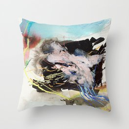 Day 62: Dividing my efforts between art and everything else feels like... Throw Pillow